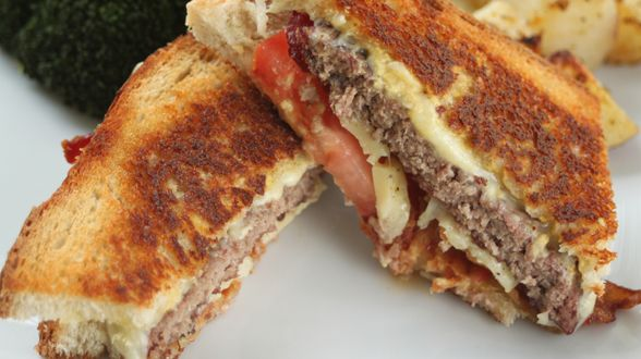 Rachel Ray calls them Grilled Cheese Burgers...looks like a delish patty melt! Yum-O!
