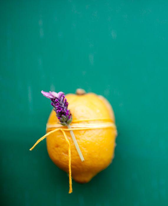 lemon cake baked in a lemon
