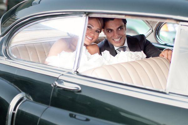 retro car  wedding