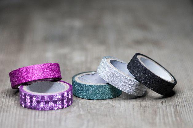 Sparkling Washi Tape, Decorative Tape, Set of 5