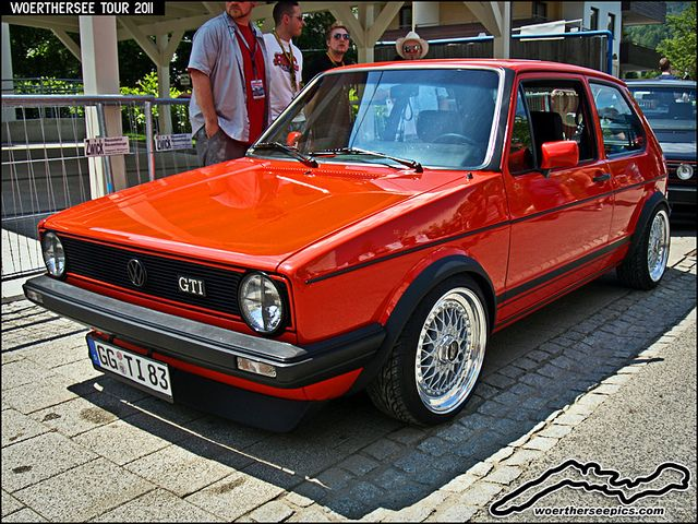 Mars Red VW Golf Mk1 GTI on BBS Split rim wheels