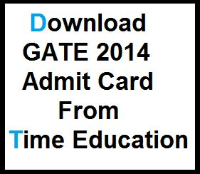 GATE 2014 Admit Card