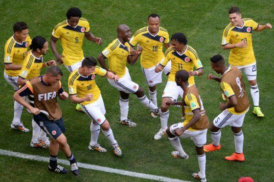 Jugadores franceses trataron de copiar fallidamente baile de colombianos