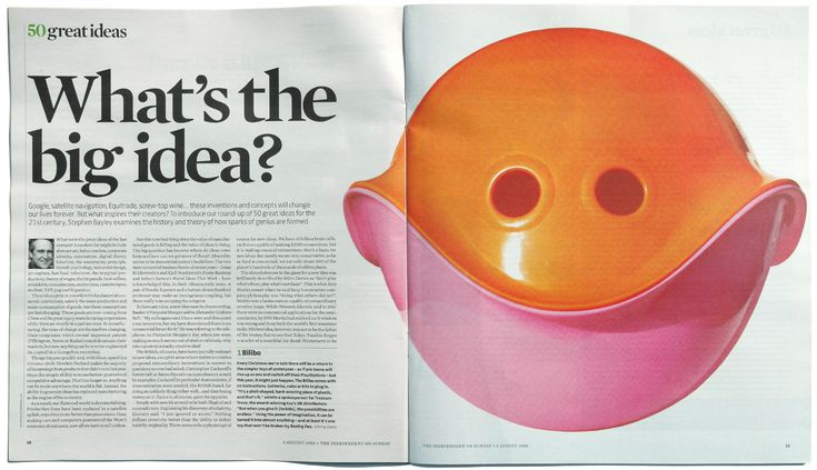 The Independent | Sunday Review | 50 great ideas for the 21st century