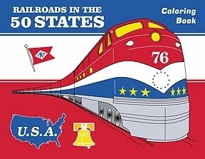 Railroads in the 50 States Coloring Book50 States, Country Visit, Colors Book, Cars Loaded, Training Birthday, States Colors, Climbing Aboard, Training Cars, States Express