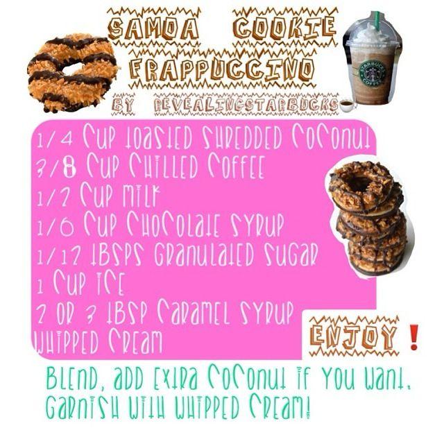 Starbucks recipe/Samoa cookie frapuccino/ frapuccino de galleta de samoa