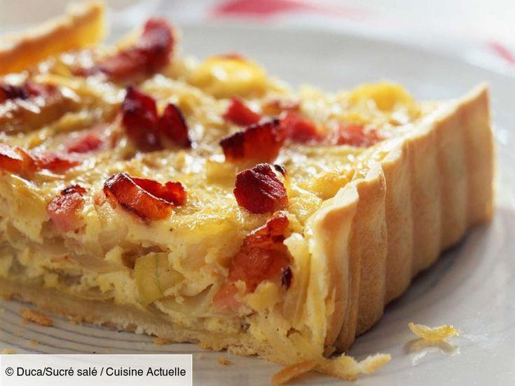 Recette Tarte à l'oignon, fromage blanc et lardons. Ingrédients (6 personnes) : 1 pâte brisée, 500 g d'oignons, 150 g de fromage blanc... - Découvrez toutes nos idées de repas et recettes sur Cuisine Actuelle