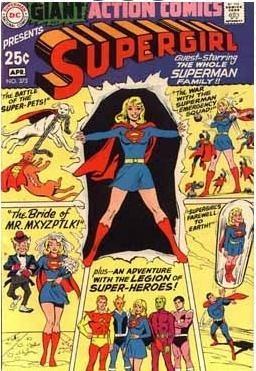 Action Comics #373  ®, Supergirl, DC Giant, comic book, Legion, cover,