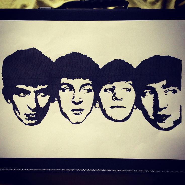 The Beatles, Black pigment ink, A3
