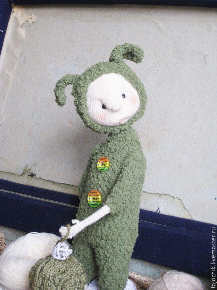 Купить Заяц - комбинированный, заяц, вязаная игрушка, вязаный заяц, Вязание крючком, каркасная игрушка