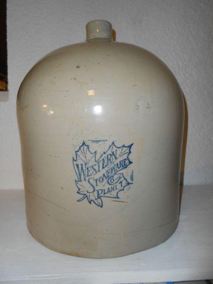 5 Gallon Western Stoneware Beehive Jug Maple Leaf Amp A Rare