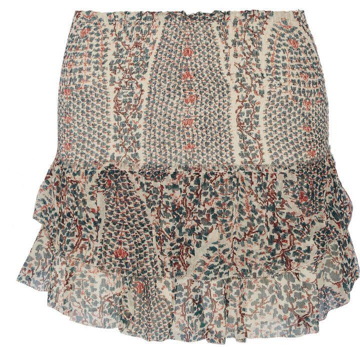Etoile Isabel Marant Serek Printed Silk-Chiffon Mini Skirt