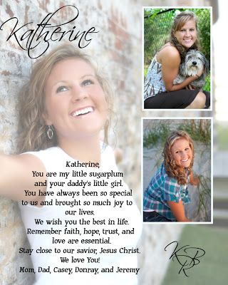high school senior yearbook ad ideas | Labels: my life , portrait