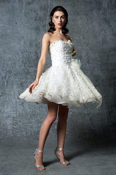 Strapless Short Wedding Dress By Isabelle Armstrong Spring 2015
