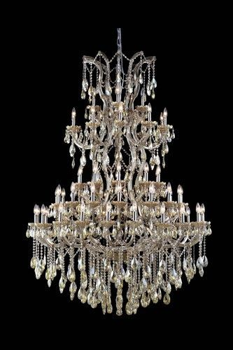 2800 Maria Theresa Collection Large Hanging Fixture H72in D54in Lt:61 Golden Teak Finish. 2800 Maria Theresa Collection Large Hanging Fixture H72in D54in Lt:61 Golden Teak Finish (Swarovski Elements Golden Teak Crystals) Watts:Lumens:Lamp Type:Shape:Style:TransitionalLight Bulbs:61Bulb Type:E12Bulb Wattage:40Max Wattage:2440Voltage:110V-125VFinish:Golden TeakCrystal Trim:Swarovski® ElementsCrystal Color:Golden Teak (Smoky)Hanging Weight:249Case Pack: 1Color: Golden Teak (Smoky)
