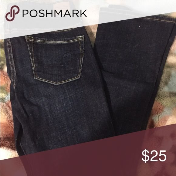 American Rag Jean American Rag Jean boot cut. Stretch size 4 and length 38 inseam. Dark Jean n it's used but still in a good condition. I wore a few times. American Rag Pants Boot Cut & Flare