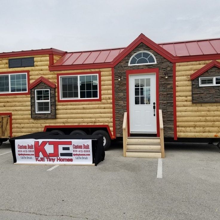 CUSTOM 33Ft Log Cabin Style Tiny House- Price REDUCED! - Tiny House Listings