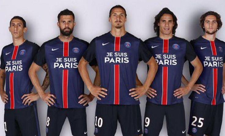 """""""Je suis Paris"""" on Paris Saint -Germain's jerseys"""