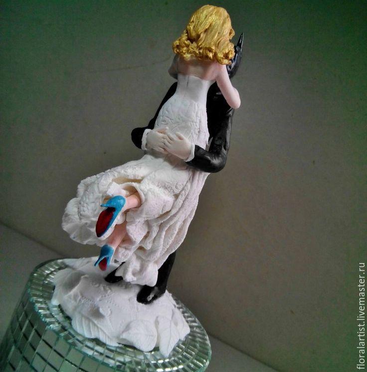 """Купить фигурки на свадебный торт """"Свадьба в стиле Бэтмена"""" - разноцветный, фигурки, фигурки на торт"""