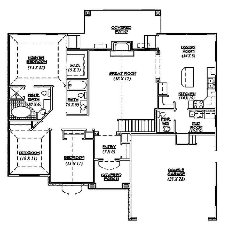 101 best House plans images – Traditional House Plans With Open Floor Plan