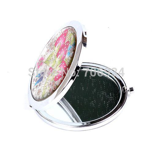 Зеркало для макияжа бланк компактное зеркало портативный карманный 1 шт. рука салон ажурной резьбой поверхность зеркала