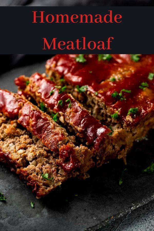 Homemade Meatloaf Recipe Aka The Best Meatloaf Recipe Homemade Meatloaf Meatloaf Meatloaf Recipes
