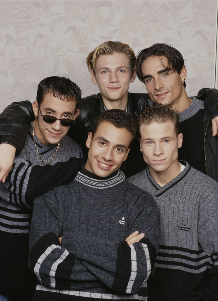 Backstreet Boys American boy band the Backstreet Boys, circa 1995. They are A. J. McLean, Howie Dorough, Nick Carter, Kevin Richardson, and Brian Littrell. (Photo by Tim Roney/Getty Images)