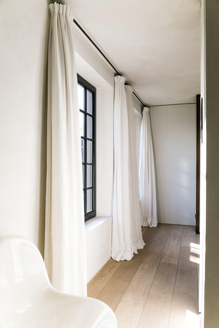 Deep Set Windows Black Window Frames Living Room Decor Curtains