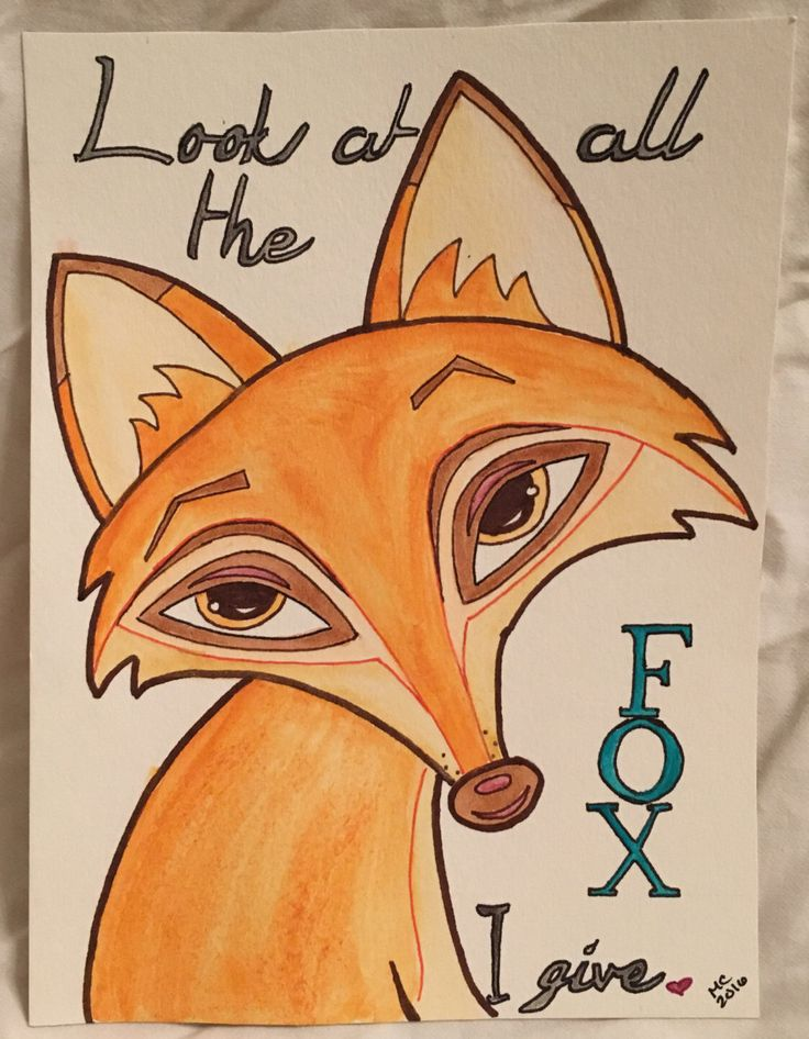 A personal favorite from my Etsy shop https://www.etsy.com/listing/398630955/look-at-all-the-fox-i-give