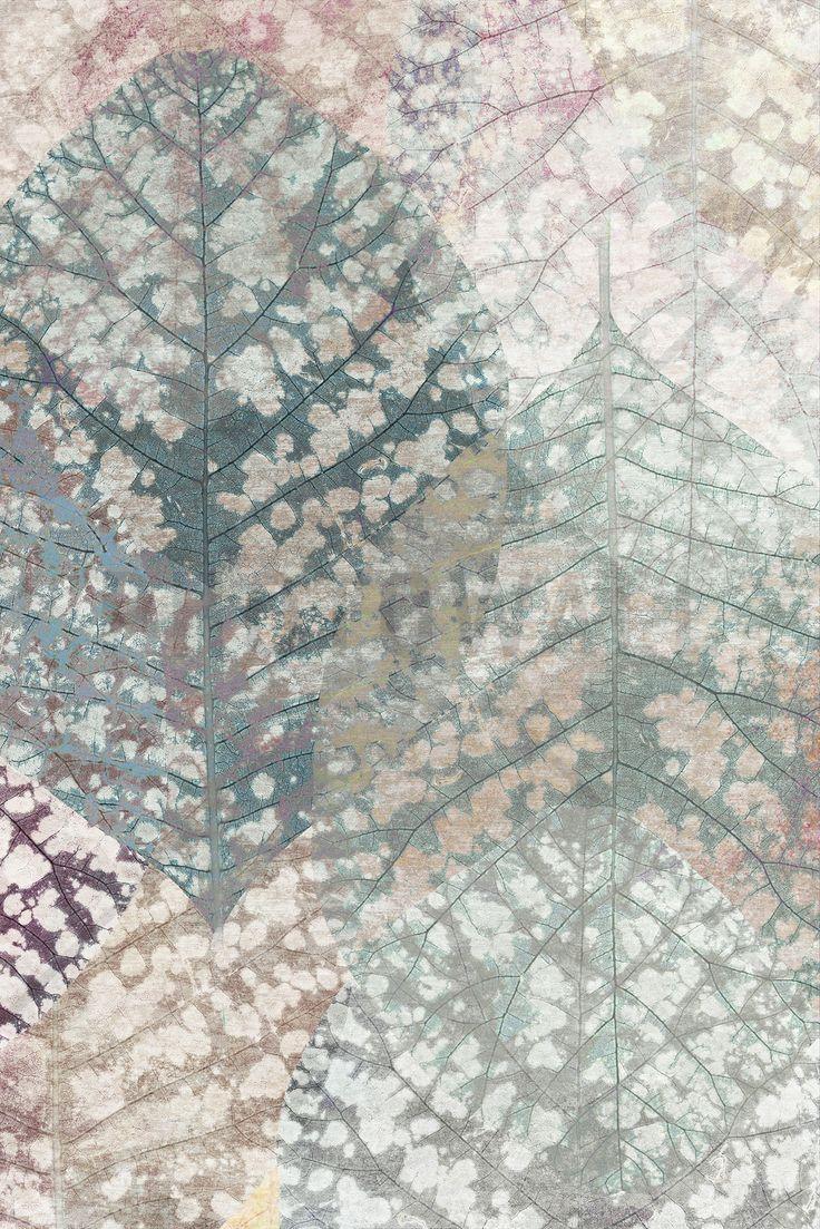 Pastel Leaf Pattern - Fototapeter