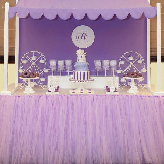 Best 25 table skirts ideas on pinterest tulle table for Baby shower tulle decoration ideas