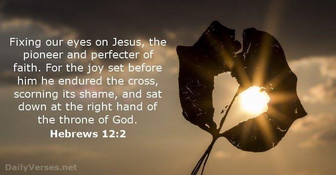 Hebrews 12:2 - dailyverses.net