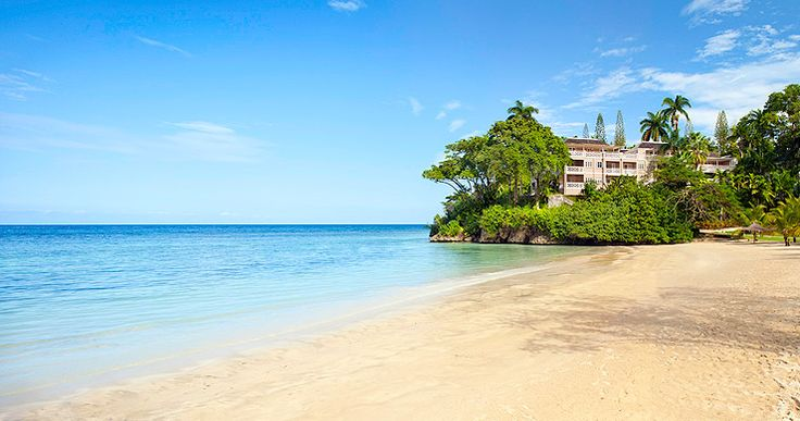Imagine strolling down this beach at Couples Sans Souci Beach in Jamaica...