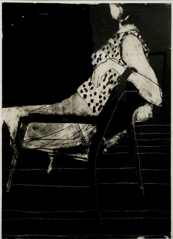 Richard Diebenkorn, Seated Woman Wearing a Polka-Dot Blouse, 1967. Lithograph (1922-1993) de Young Museum