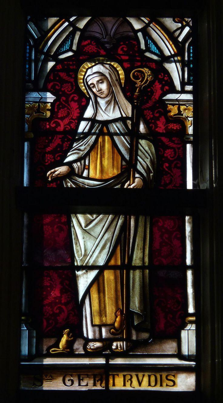 Gertrude of Nivelles - Wikipedia