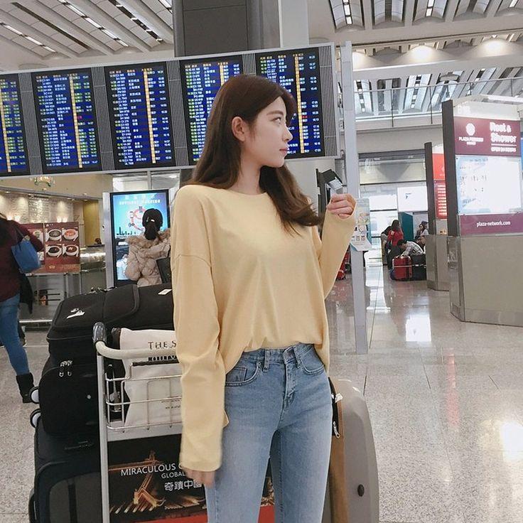 ♡サイドスリットクルーネック長袖カットソー♡ #レディースファッション #ファッション通販 #ファッショントレンド #新作 #最新 #モテ服 #韓国ファッション #韓国レディース通販 #ootd #wiw  #fashionaddict #womensfashion #fashion 今週の新作 トップス > TEE BEST トップス  https://goo.gl/sO6VzW