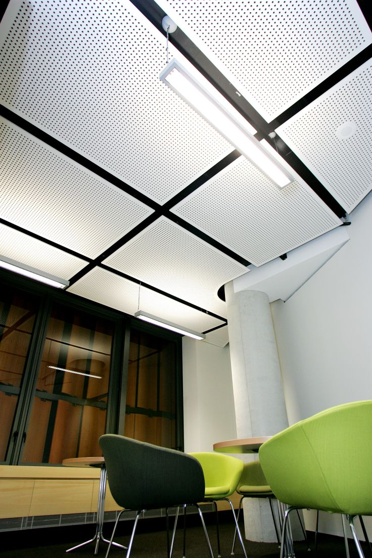 Keystone perforated mdf under coated and finished on site  Syd uni law facilty