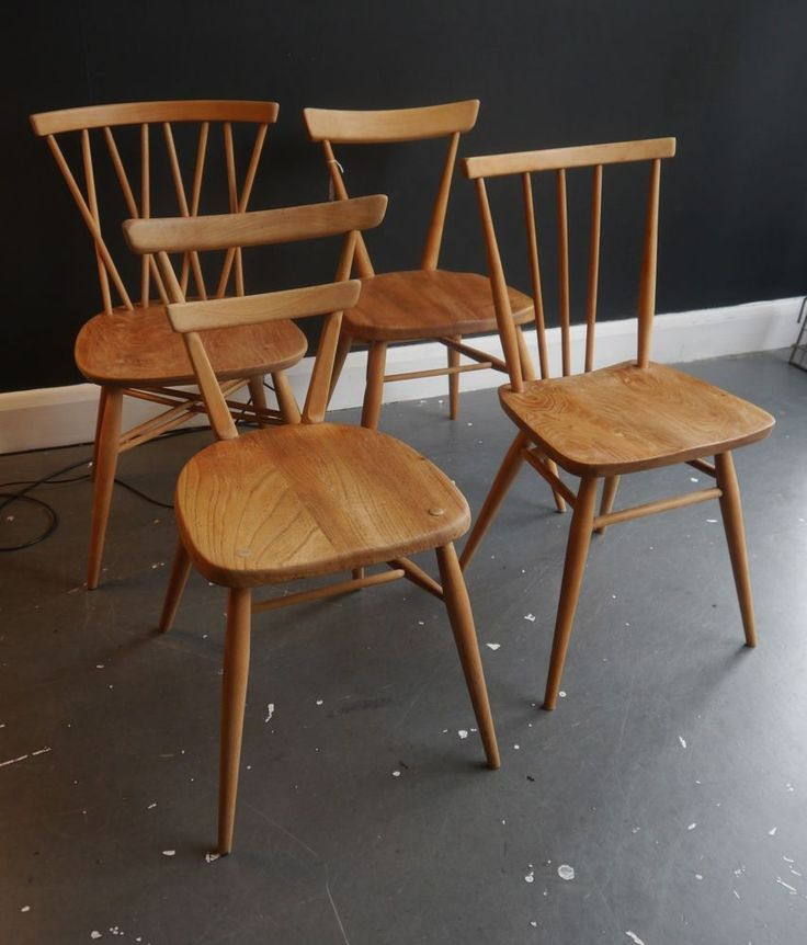 Selection of four vintage Ercol dining chairs. The 25  best Ercol dining chairs ideas on Pinterest   Ercol table