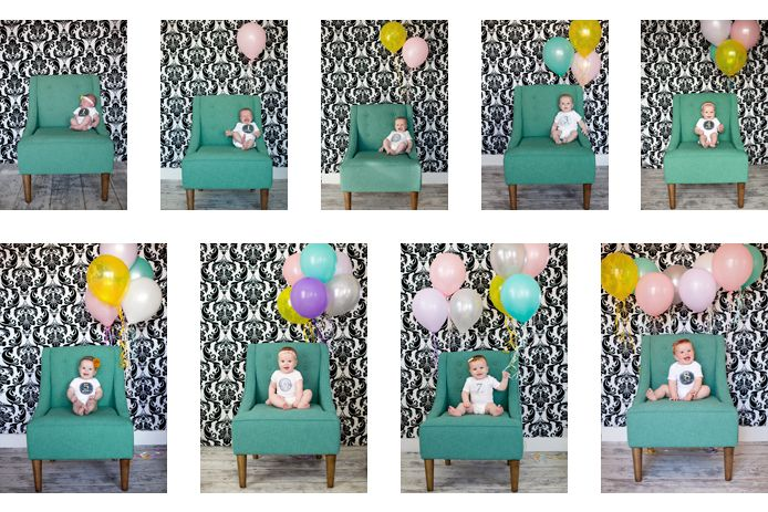 add a balloon each month :) so cute!: Photos Ideas, Cute Ideas, Months Photos, Birthday Photos, Months Pictures, Balloon, Baby Photos, Photography Kids, Months Baby