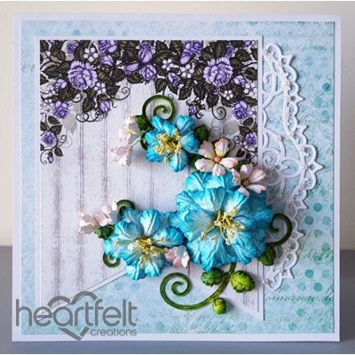 Heartfelt Creations - Teal Blushing Roses Project