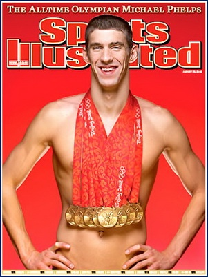 Michael Phelps, Sports Illustrated, Beijing Olympics 2008 he is just a BEAST!!!