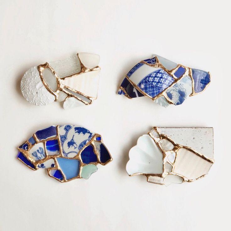 Kintsugi — Sonoma Cultural Exchange Kintsugi, Ceramic Jewelry, Glass Jewelry, Ceramic Art, Half Elf, Traditional Japanese Art, Blue Pottery, Broken China, Art Object