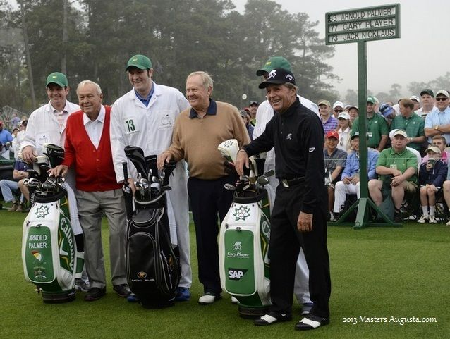 Arnold Palmer, Jack Nicklaus and Gary Player will gather at the first tee of the Augusta National Golf Club to begin the 2014 Masters Tournament