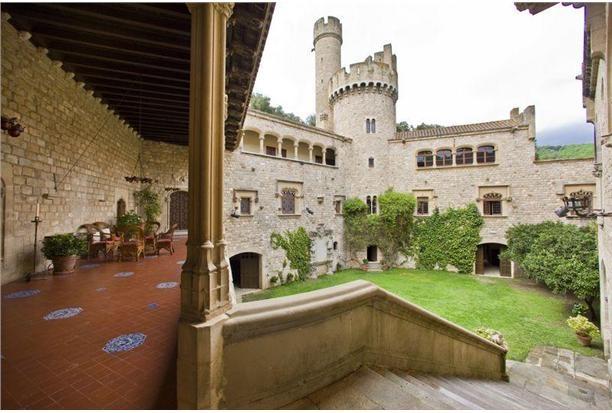 Luxury Castles - Palace for sale in Canet de Mar Spain  15 bedrooms    8 bathroomsFrom Santa, Del Maresm, Barcelona Castles, De Mars, Alt Maresm, Santa Florentina, Castle, Barcelona Spain, Canet De