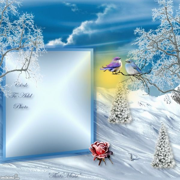 beautiful winter - Winter Picture Frames