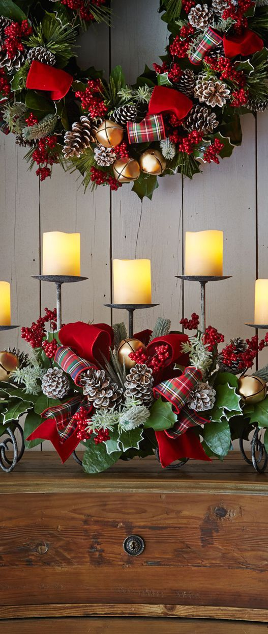 Mejores 639 im genes de decoraciones navide as a o nuevo - Decoracion navidena rustica ...