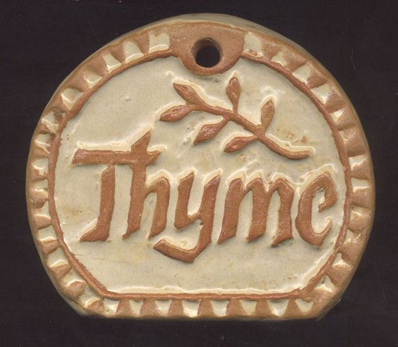 THYME  Herb Garden Marker  Plant Sign by HouseofWhisperingFir, $5.00