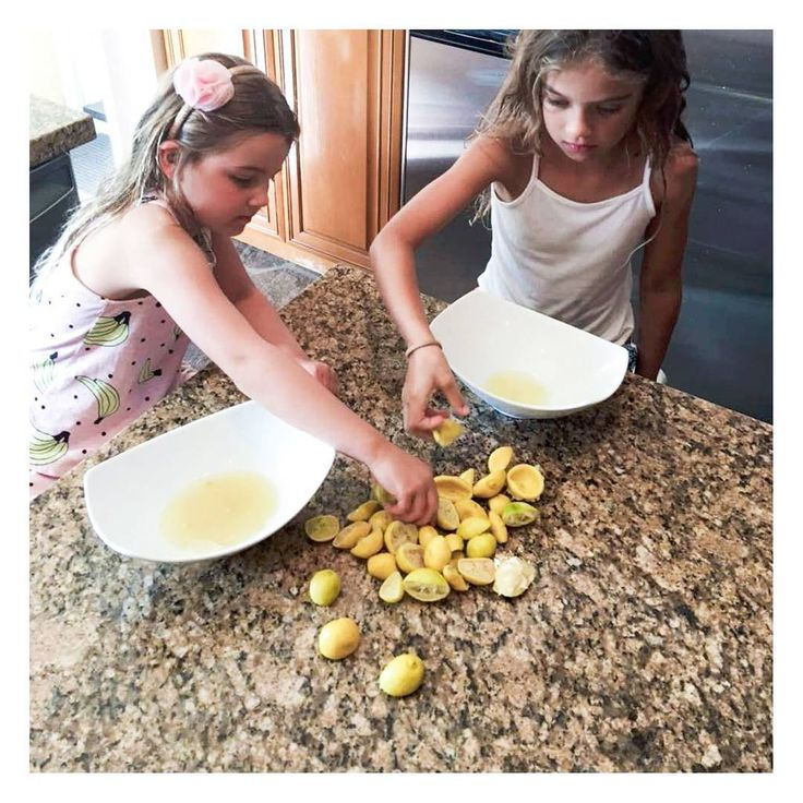 {LEMONS} . Freshly squeezed lemonade in the making from the lemon tree in the backyard of our house in Palm Springs 🍋🌵 🍋🌵 🍋 Yum! .  Watching the girls get to work, I am reminded of all that is sacred. Let's find our way back to what's important. Let's celebrate the simple things. Let's reconnect. Let's remember. / /www.hanakotherapies.com