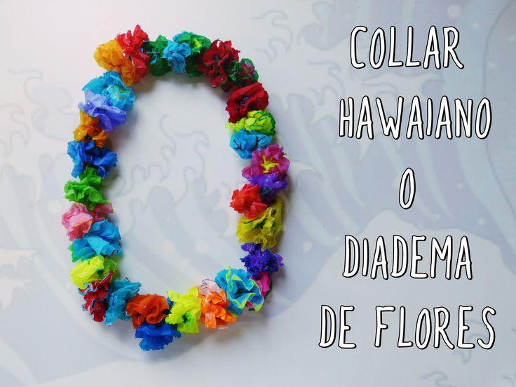 Collar hawaiano o diadema de flores para fiesta DIY....En este tutorial de manualidades te enseño a elaborar un collar hawaiano con pañuelos de papel. También podrás utilizarlo como diadema o corona de flores. Tanto el collar como la diadema son complemento ideales para tus fiestas temáticas o como accesorios para nochevieja, cumpleaños....para disfrazarte de Frida Kahlo, hada, duende.