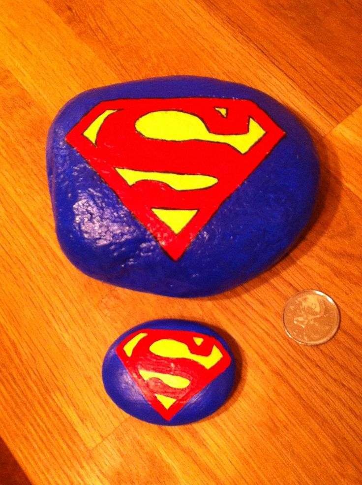 Superman Painted Rocks Rocks Pinterest Superman